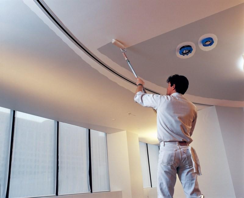 расчет краски для окраски потолка