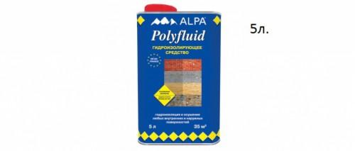 Полифлюид Альпа / Alpa Polyfluid жидкость для гидроизоляции 5л