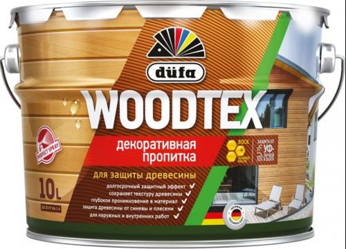 Пропитка WOODTEX для защиты древесины палисандр (10л) Дюфа