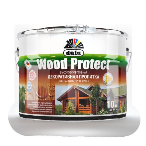 Пропитка Wood Protect для защиты древесины бесцветный (10л)