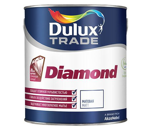 "Краска ""Dulux Trade Diamond Matt"" матовая  база BС 2,25 л"