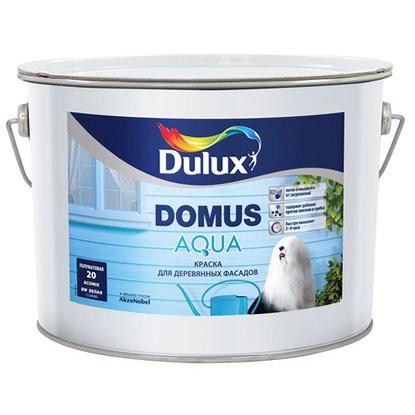 """Краска """"Domus aqua"""" акриловая для деревянных фасадов, на водной основе, п_мат белая база BC (10л)"""