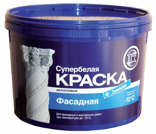 """Краска ВД-АК-1180 фасадная """"Зимняя"""" супербелая 15кг"""