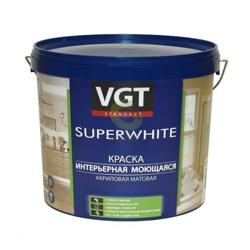 Краска ВД-АК-1180 интерьерная моющаяяся база С (13кг) ВГТ