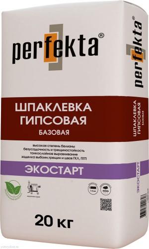 """PERFEKTA Шпаклевка гипсовая """"ЭкоСтарт"""" мешок 20кг"""