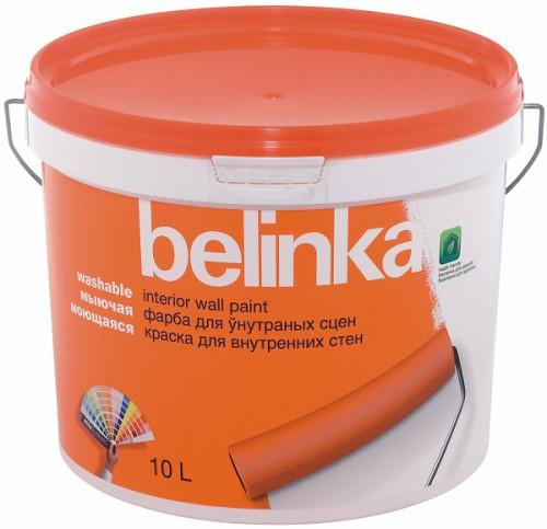 BELINKA Моющаяся B1 ВД Краска для внутр. стен и потолков белая 10л