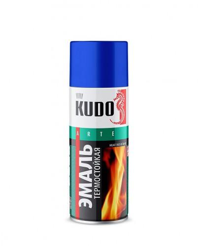 """Краска аэрозольная термостойкая черная 520мл """"KUDO"""" KU-5002"""
