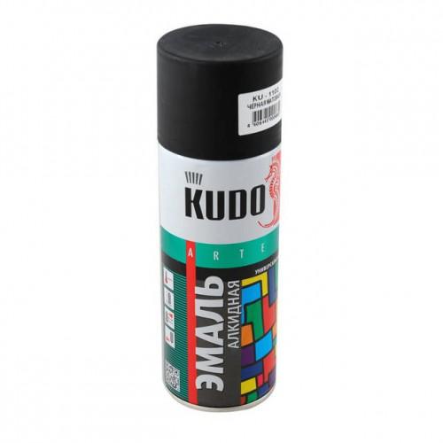 """Краска аэрозольная черная глянец 520мл """"KUDO"""" KU-1002"""