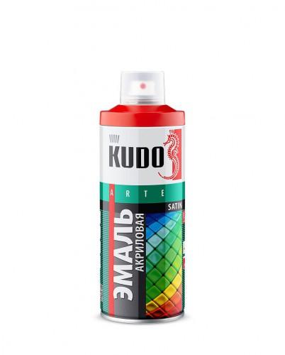 "Краска аэрозольная черная матовая 520мл ""KUDO"" KU-1102"