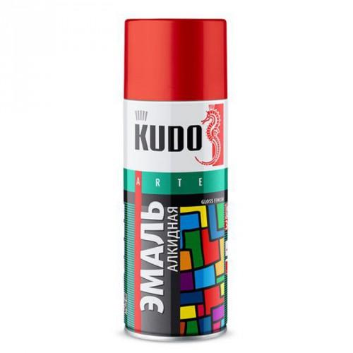 "Краска аэрозольная красная 520мл ""KUDO"" KU-1003"