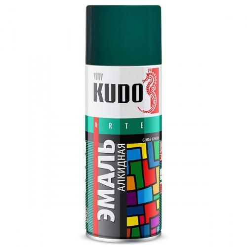 "Краска аэрозольная зеленая темная 520мл ""KUDO"" KU-1007"