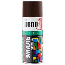 """Краска аэрозольная коричневая 520мл """"KUDO"""" KU-1012"""