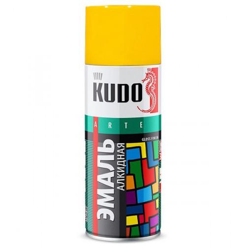 "Краска аэрозольная желтая 520мл ""KUDO"" KU-1013"