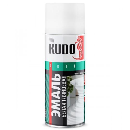 """Краска аэрозольная белая глянец 520мл """"KUDO"""" KU-1001"""