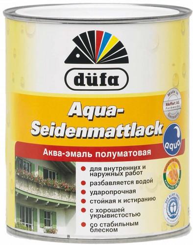 Эмаль полуматовая белая SEIDENMATTLACK Dufa Дюфа 2.5 л