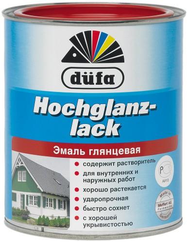 Эмаль глянцевая белая (2,5 л.) Дюфа Россия