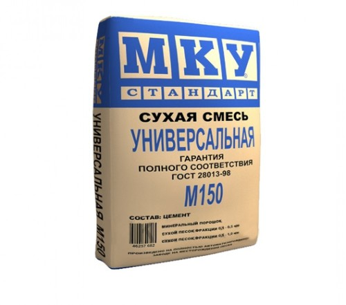 Сухая смесь М150 универсальная в таре по 40кг МКУ