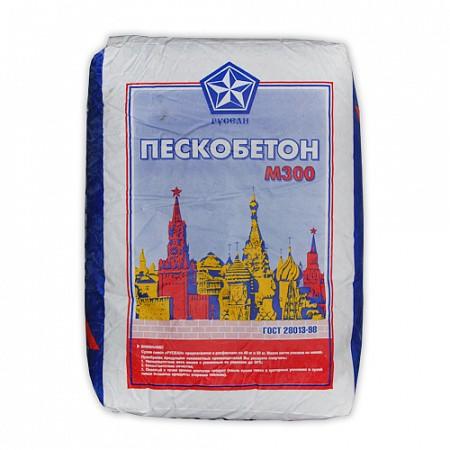 Сухая смесь специализированная М300 в мешках по 40 кг (пескобетон) Русеан