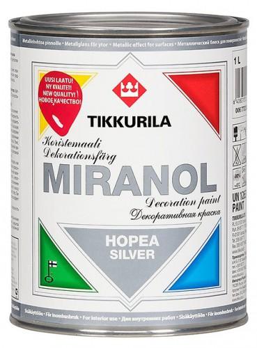 MIRANOL серебристая декор. краска 0,1л