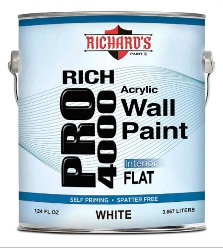 Richard's PRO 4000 - Винил-акриловая краска краска - 3,667 л.
