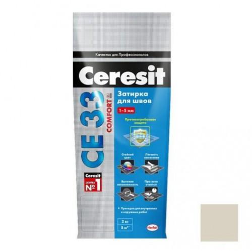 Затирка Церезит СЕ33 Сереб-Серый 04, 2 Россия