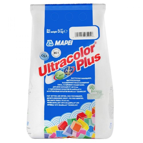 Мапей Ultracolor Plus №140 затирка д/швов коралл 5кг 140