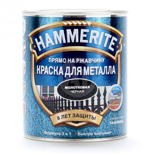 "Краска обжимная молотк. ""Хаммерайт"" серая (0,75л) Англия"