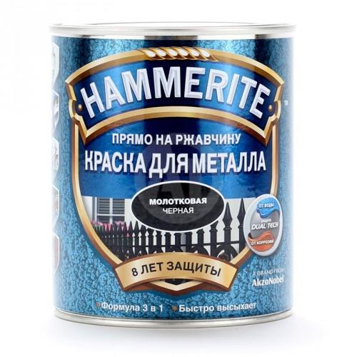 """Краска гладкая глянц. """"Хаммерайт"""" черная (0,75) Англия"""