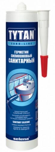 Tytan Euro-line герметик силиконовый санитарный, бесцветный (290мл)