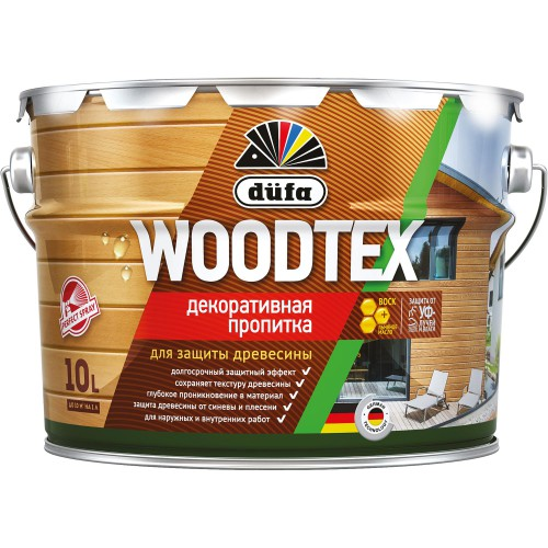 Пропитка WOODTEX для защиты древесины венге (10л) Дюфа