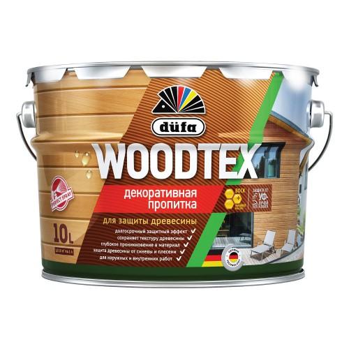 Пропитка WOODTEX для защиты древесины бесцв. (10л) Дюфа