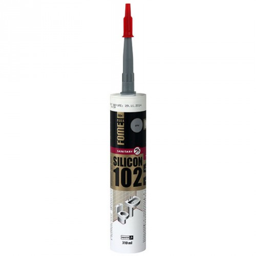 Герметик силиконовый FOME FLEX 102 санитарный серый 310мл