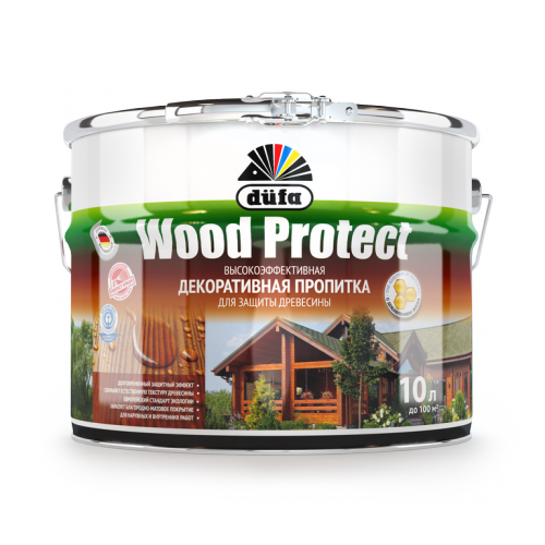 Пропитка Wood Protect для защиты древесины палисандр (10л)