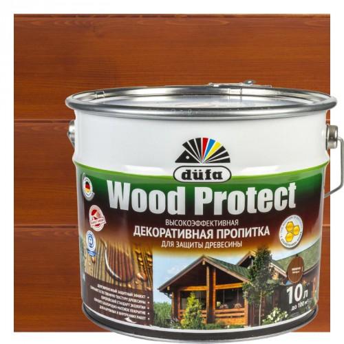 Пропитка Wood Protect для защиты древесины махагон (10л)