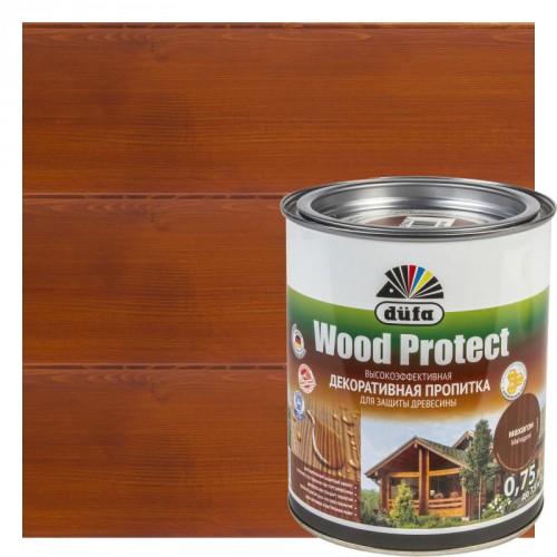 Пропитка Wood Protect для защиты древесины махагон (0,75л)