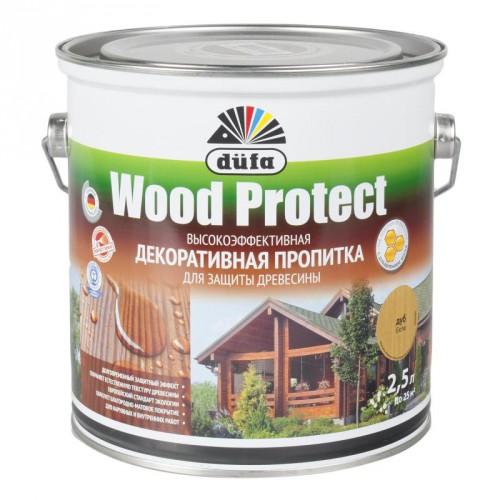 Пропитка Wood Protect для защиты древесины дуб (2,5л)
