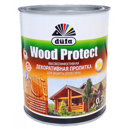 Пропитка Wood Protect для защиты древесины бесцветный (0,75л)