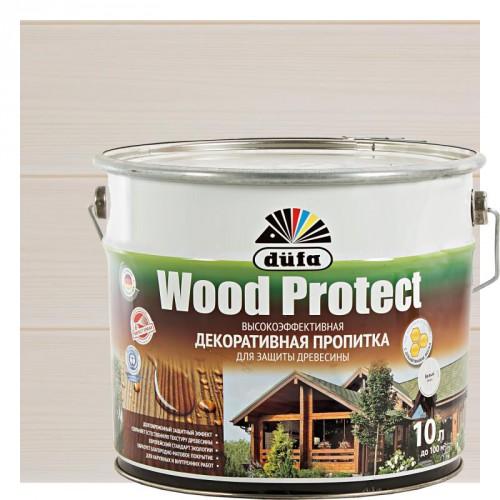 Пропитка Wood Protect для защиты древесины белый (10л)