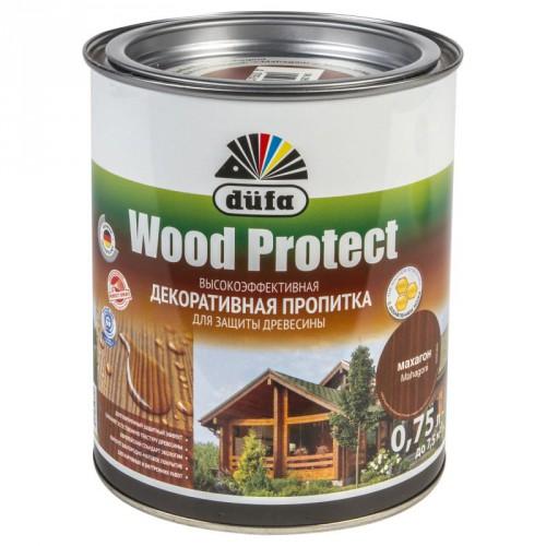 Пропитка Wood Protect для защиты древесины белый (0,75л)